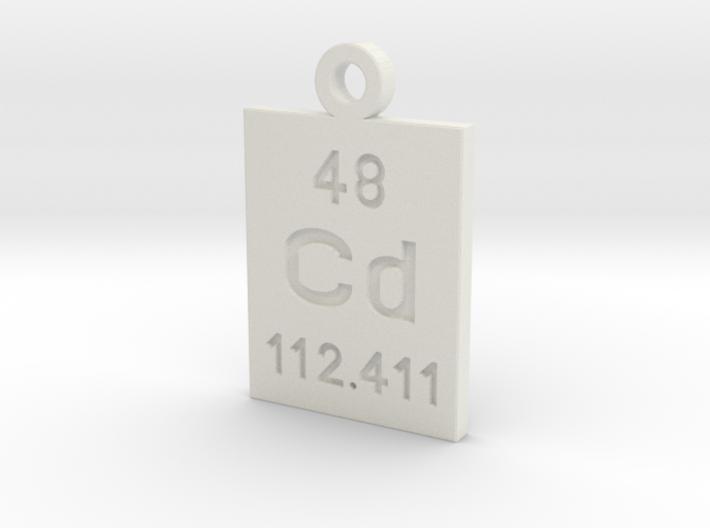 Cd Periodic Pendant 3d printed
