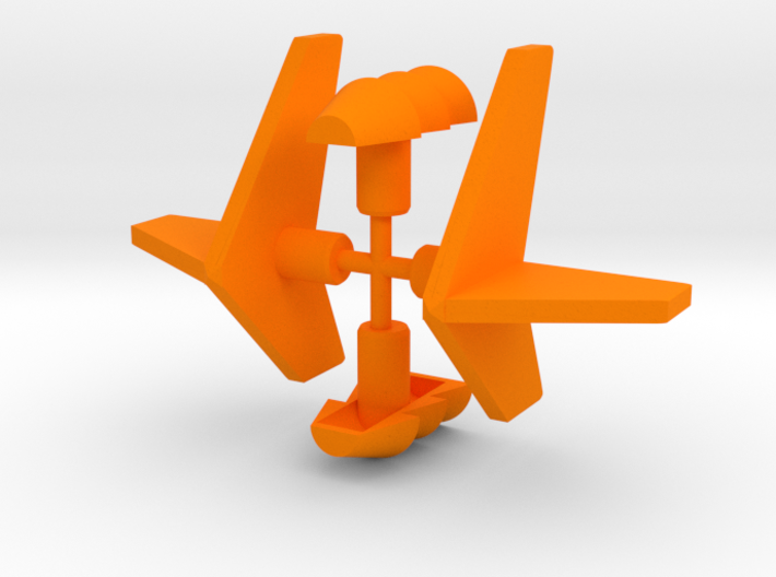 Micro Cessna Vents and Fins 3d printed