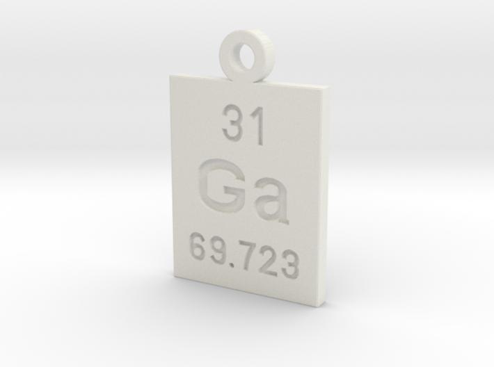 Ga Periodic Pendant 3d printed