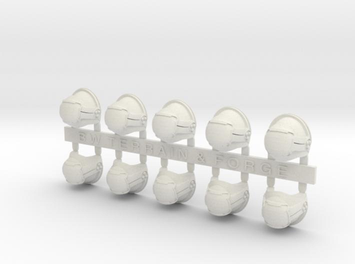 V7 Mech Style Blank Shoulder Pad 3d printed
