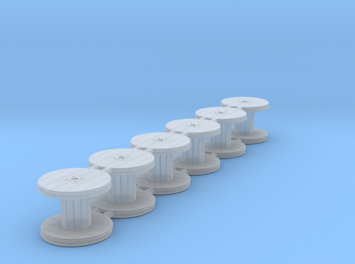 Wooden Cable Reel 5ft 01. HO Scale (1:87) 3d printed