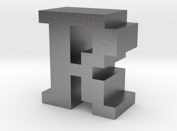 """R"" inch size NES style pixel art font block 3d printed"