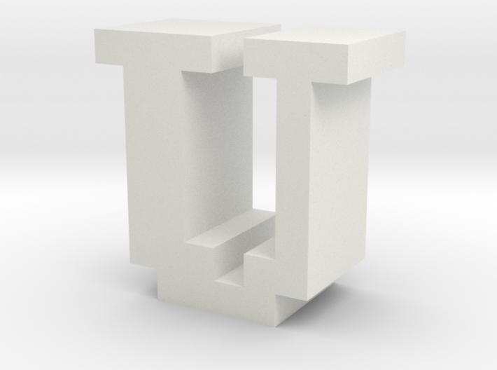 """U"" inch size NES style pixel art font block 3d printed"