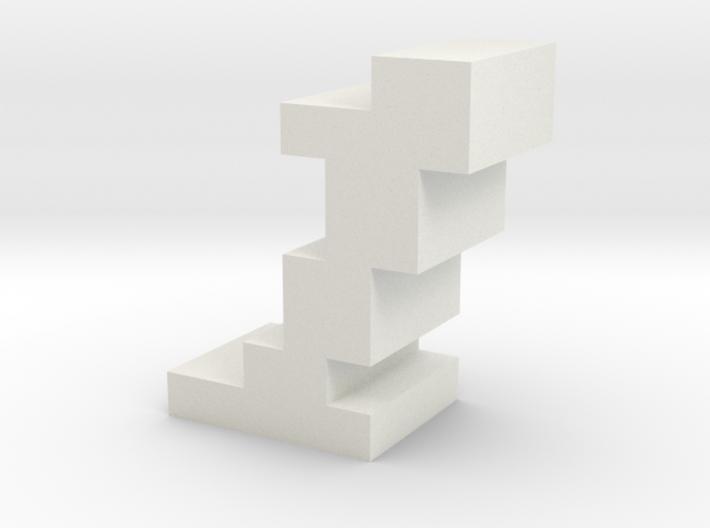 """1"" inch size NES style pixel art font block 3d printed"