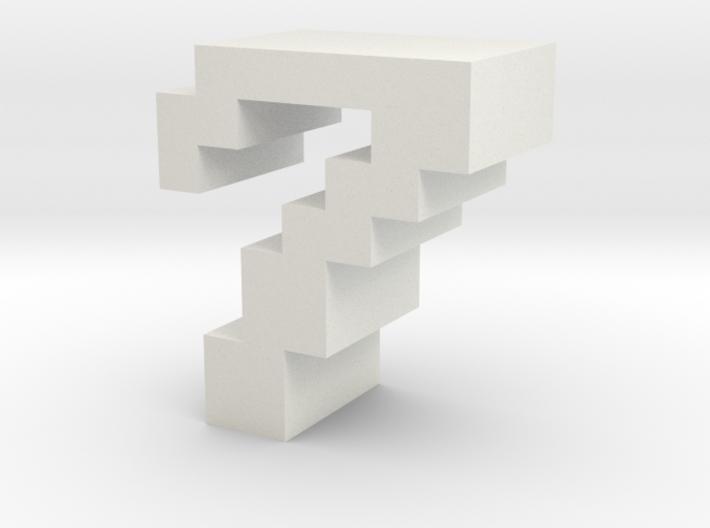 """7"" inch size NES style pixel art font block 3d printed"