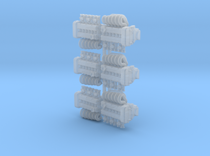 Set of 6 - OSGIKEN Datsun Inline 6 Engine 3d printed