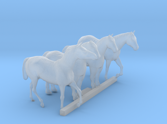 N Scale Horses 3d printed This is a render not a picture
