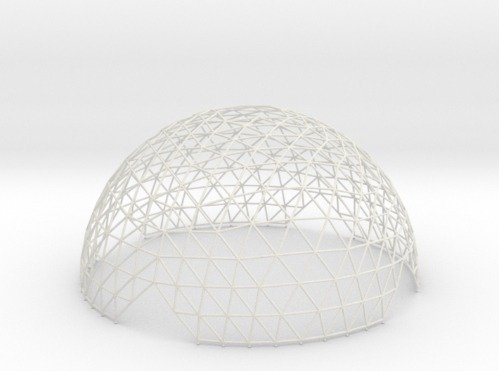 Geodesic Hemisphere, 12-frequency 3d printed