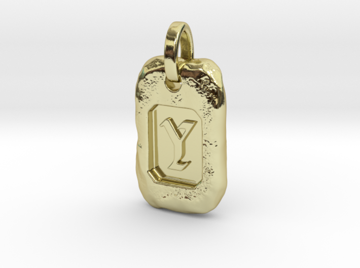 Old Gold Nugget Pendant Y 3d printed