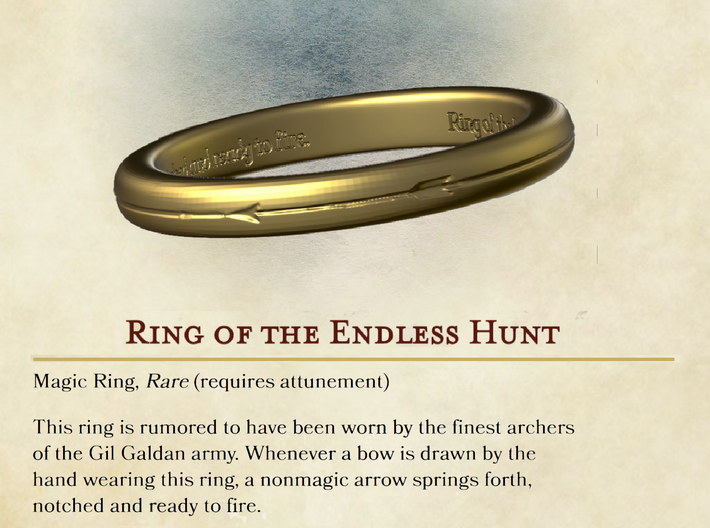 Ring of the Endless Hunt 3d printed