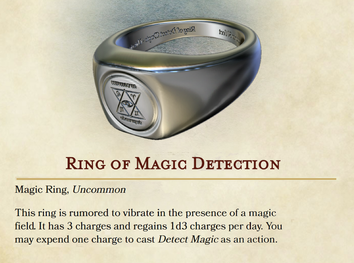 Ring of Detect Magic 3d printed