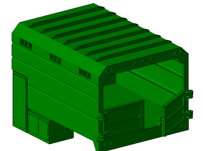 1/87th Chipper Truck L Toolbox Dump Box  3d printed