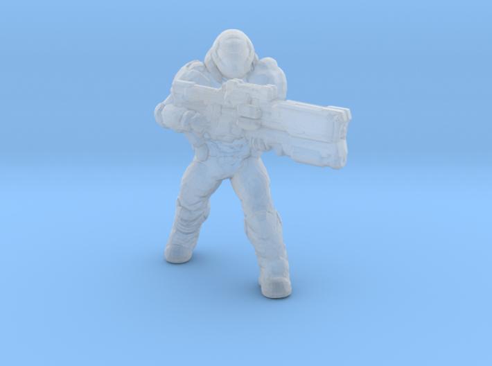 doomguy doom slayer 32mm heroic scale miniature 3d printed