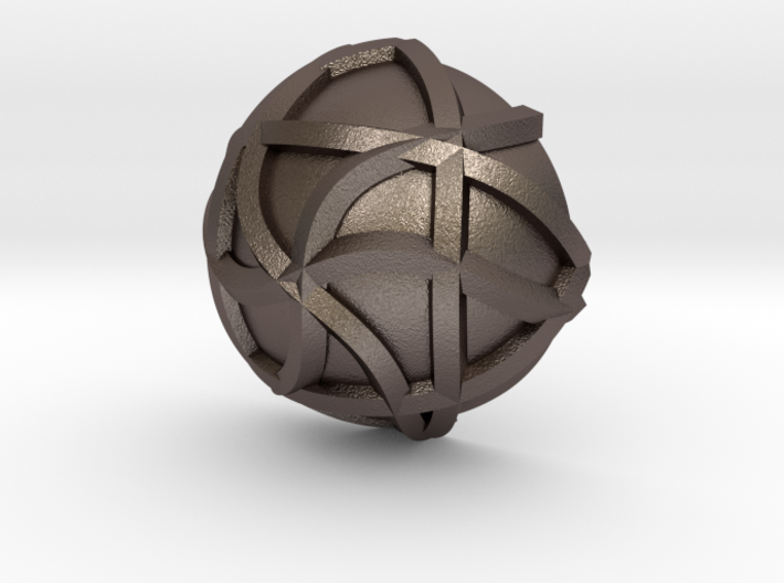 3K Collection - Line Hexa Ring (Top) 3d printed