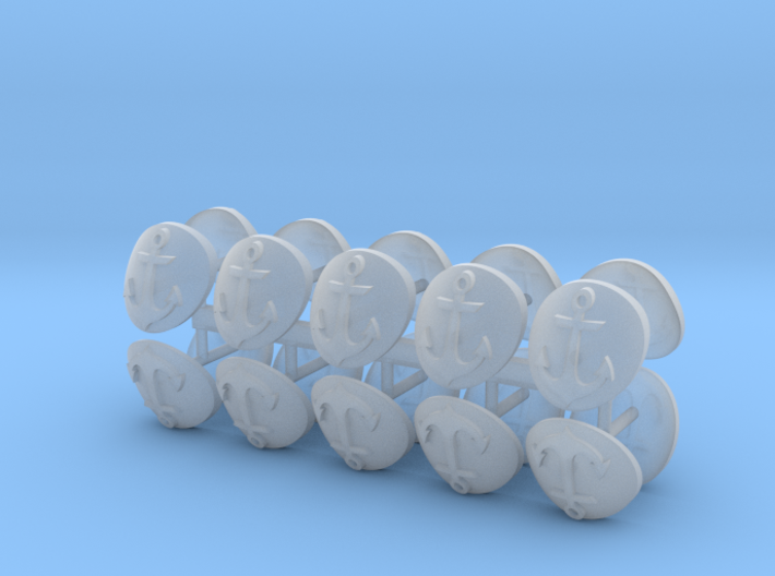 Commission 82 shoulder pad icons x20 3d printed