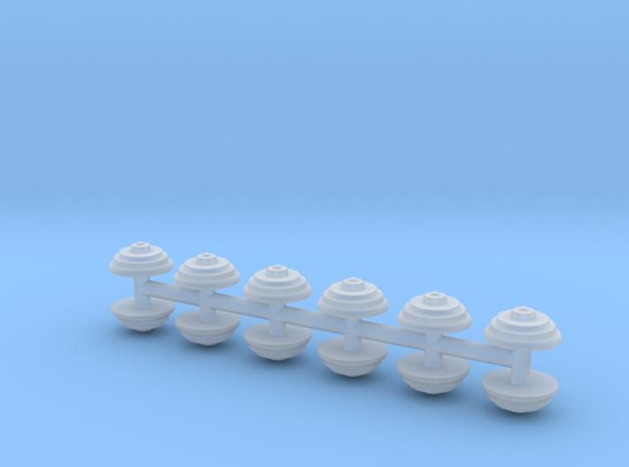 12 runde Maueranker 3d printed