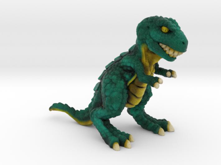Retrosaur - Mean Green, Full Color 3d printed
