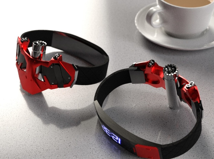 Spiderman PS4 Web Shooter and Wristbands. 3d printed