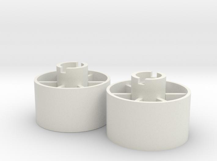 Rear wheel +3,5mm 3d printed