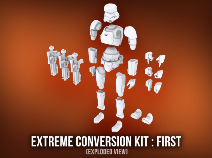 Extreme Conversion Kit : First Buckethead 3d printed
