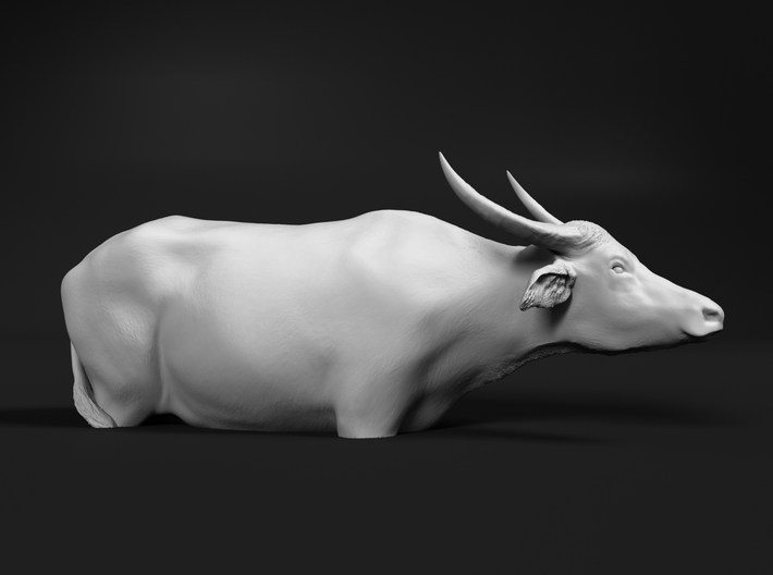 Domestic Asian Water Buffalo 1:60 In Deep Water 3d printed