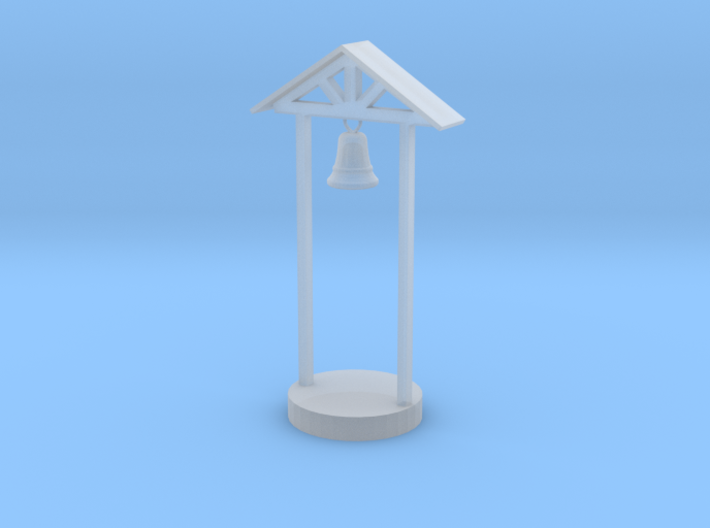 S Scale School Bell 3d printed This is a render not a picture