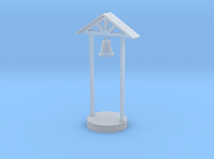 O Scale School Bell 3d printed This is a render not a picture