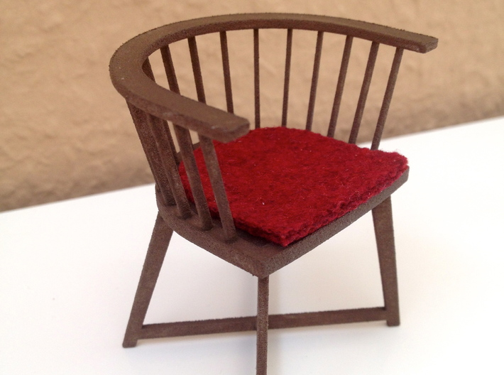 1:12 Chair no. 1 3d printed here painted for a log cabin environment