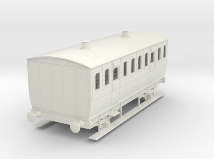 0-43-mgwr-4w-3rd-class-coach 3d printed
