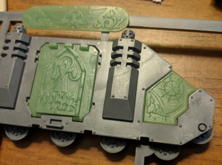 Custom Bloody Rose Sororitas Rhino Doors and Armor 3d printed