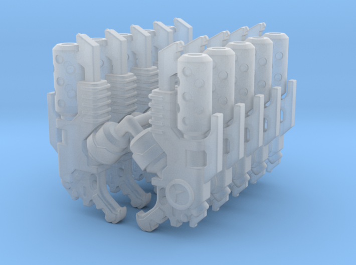 Delaque Hand Flamer (x10) 3d printed