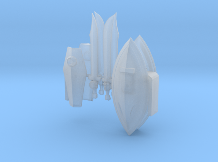 Zeon Shields and Swords with hands 3d printed