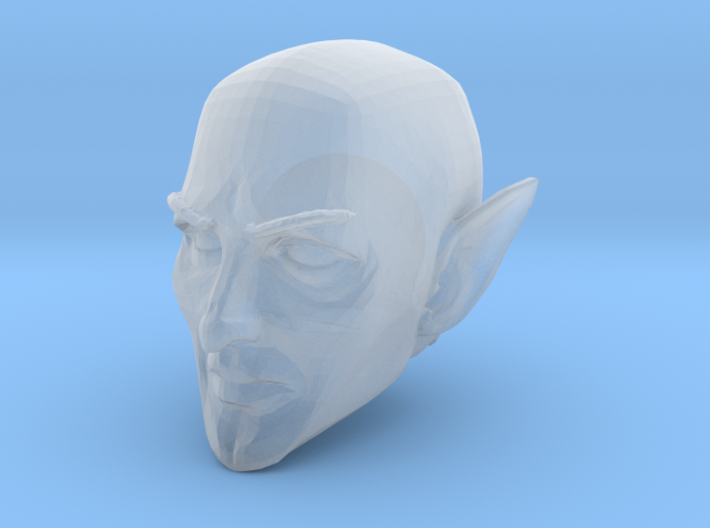 Elf Cleric Head Bald 1 for Mythic Legions 2.0 3d printed Recommended