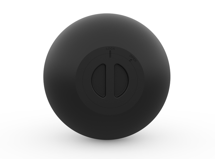 Kettle Bell Bank 3d printed The plug fits in with a push and a twist.