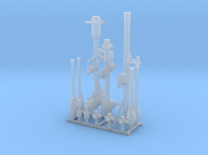 Zeon Explosive Weapons with Hands 3d printed