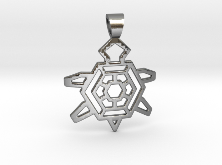 Native Turtle [pendant] 3d printed