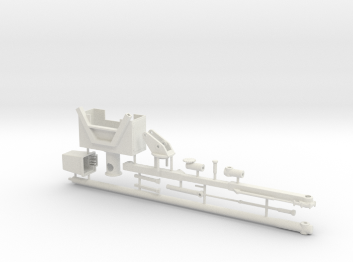 1/50th Chipper Truck Boom with bucket and saw 3d printed