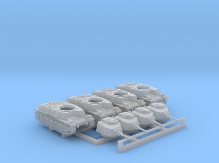 1/285 SARL 42 Tank FCM 3 Man Turret 47mm SA37 x4 3d printed 1/285 SARL 42 Tank FCM 3 Man Turret 47mm SA37 x4