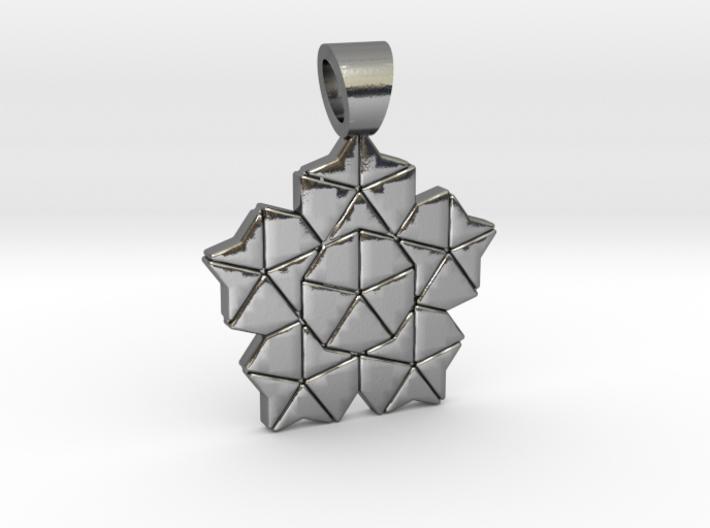 Golden ratio tiling - Lotus [pendant] 3d printed