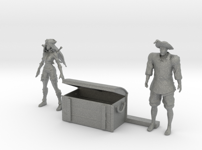 HO Scale Old Time Pirates 3d printed This is a render not a picture