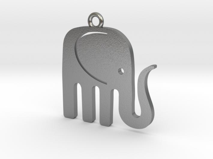 Elegant Elephant Pendant 3d printed