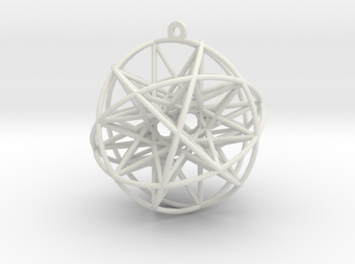 "Super Penta Sphere 2"" Pendant 3d printed"