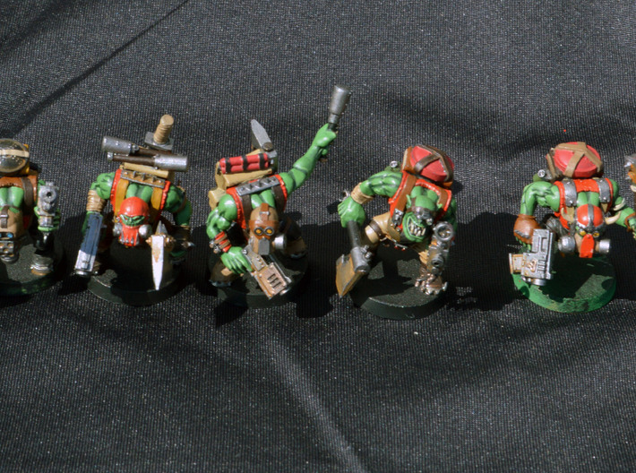 40k Ork Kommando Conversion Kit 3d printed