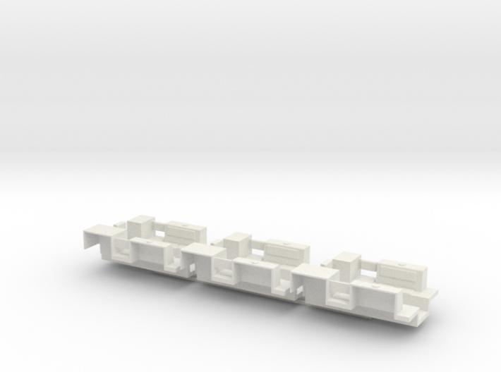 7201B • 3×M9A1 Half-track Body 3d printed