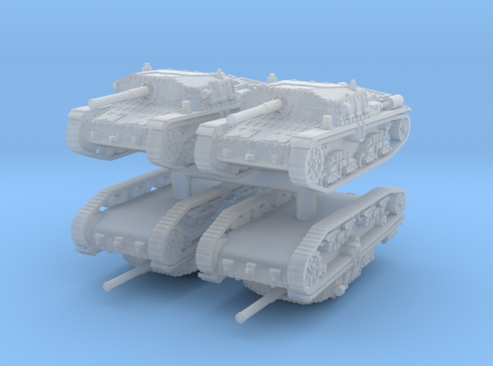 Semovente M42 75/34 (4 pieces) 1/144 3d printed