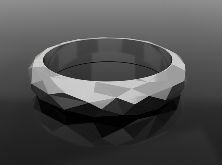 Low Poly Ring Narrow 3d printed