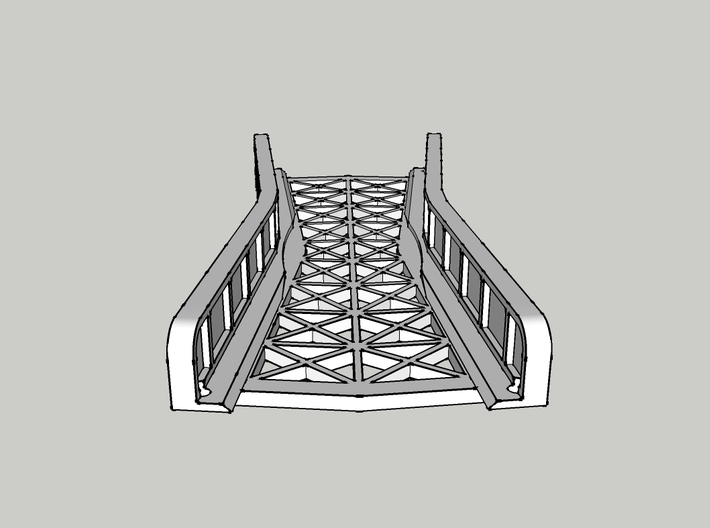 CROSSING 13° SINGLE TRACK VIADUCT 3d printed