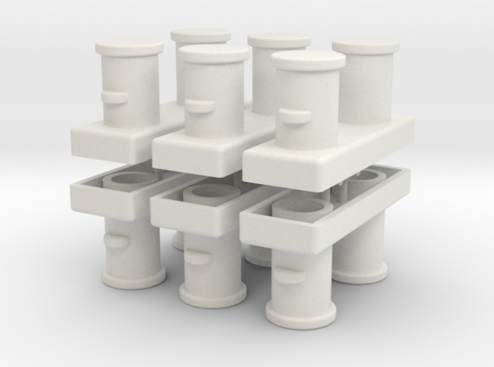Double Bollards acc. ISO 3913 - 1:50 - 6X 3d printed