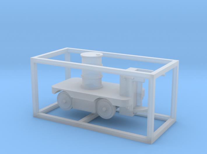 E-Karren Flachwagen 1x 200l Fass - 1:120 TT 3d printed