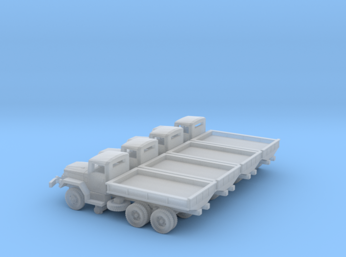 4 X 1/220 M35 2.5 ton Cargo Truck Open Bed 3d printed